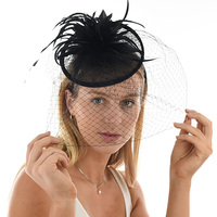 Cocktail Party Feather Fascinator Headband