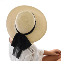 Ribbon Wide Brim Visor Hat
