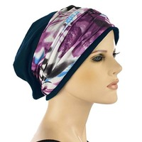 Jersey Cotton Beanie with Seamless Headband