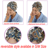 Soft Floral Print Turban Hat