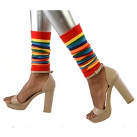 Red Rainbow Leg Warmers