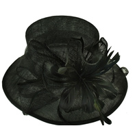 Millinery Evening Hat | Black