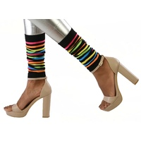Black Rainbow Leg Warmers
