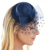 Big Bow Mini Top Hat Fascinator