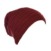 Double Striped Slouch Beanie