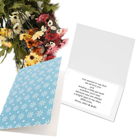Greeting Card-Shape of Blue Floral Foliage | Pattern 1