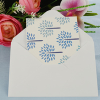 Greeting Card-Shape of Blue Floral Foliage | Pattern 4