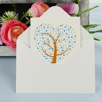 Greeting Card-Love Heart Tree | Blue