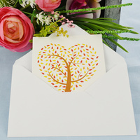 Greeting Card-Love Heart Tree | Red N Yellow