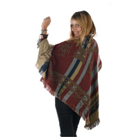 Mexican Poncho Blanket Cape