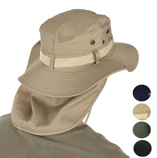 Neck Back Cover Flap Legionnaire Outdoor Fishing Sun Hat 7206f82310a