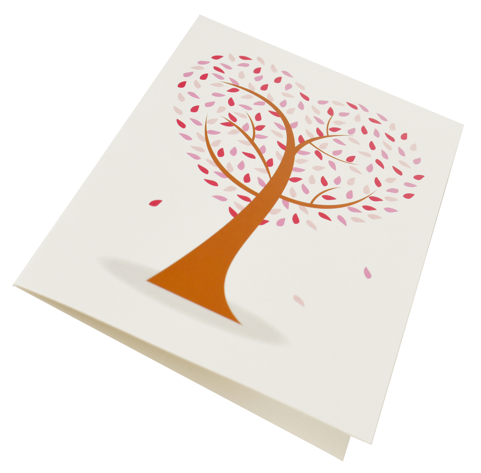Greeting Card-Love Heart Tree | Pink N Hot Pink
