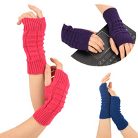 Crochet Knitted Wrist Warmers Cuffs