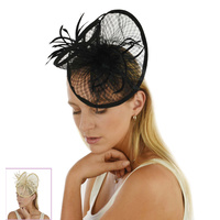 Sinamay Net Feather Fascinator