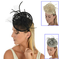 Sinamay Feather Hatinator Fascinator