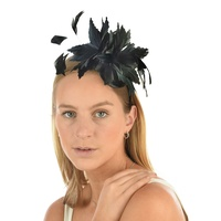 Black Fascinator Feather Headband
