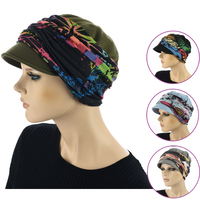 Newsboy Cap with Seamless Wrap Band