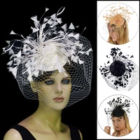 Starry Feather Splay Fascinator