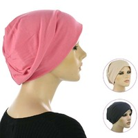 Jersey Cotton Slip-on Slouch Beanie