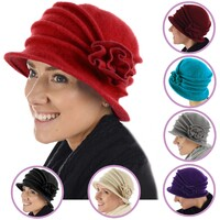 20s Wool Cloche Flower Chemo