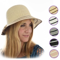 Big Bow Cloche Bucket Sun Hat