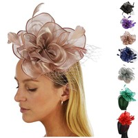 Organza 8 Petaled Fascinator