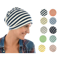 Stretch Sleep Cap with Wide Stripes