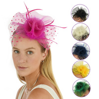 Beaded Crinoline Feather Fascinator