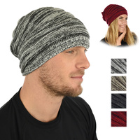 Ribbed Stretch Two Toned Beanie