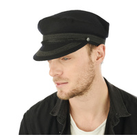 Wool Felt Greek Fisherman Cap | Black | 59cm
