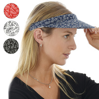 Small Brim Paisley Cotton Clip-On Visor