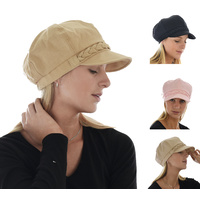 Cotton Braid Ribbon Bakerboy Chemo Hat
