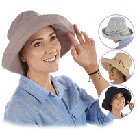 Big Bow Linen Sun Hat