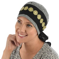 COTTON TURBAN WITH BLACK SASH