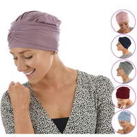 Bamboo Turban Hat with Removable Headband - Tracy