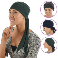 Bamboo Slip-on Cap with Tails - Susan