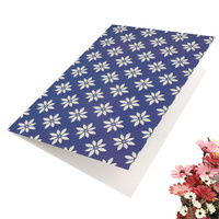 Greeting Card-Shape of Blue Floral Foliage | Pattern 3