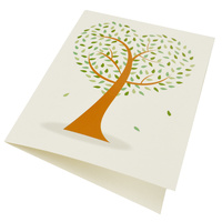 Greeting Card-Love Heart Tree | Green