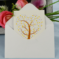 Greeting Card-Love Heart Tree | Orange N Purple