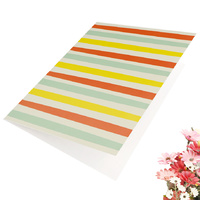 Greeting Card-Colourful Stripes Design | Pattern 2