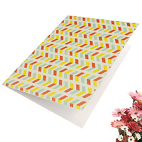 Greeting Card-Colourful Stripes Design | Pattern 3