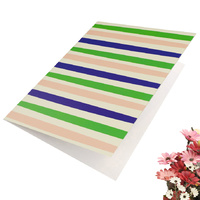 Greeting Card-Colourful Stripes Design | Pattern 5